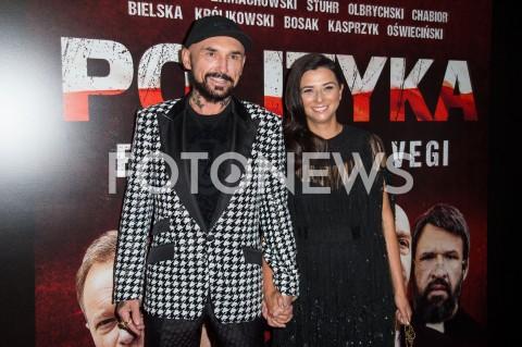 AGENCJA FOTONEWS - 03.09.2019 WARSZAWA POKAZ PREMIEROWY FILMU POLITYKA W WARSZAWIEN/Z PATRYK VEGA Z ZONAFOT JACEK MYSZKOWSKI/FOTONEWS