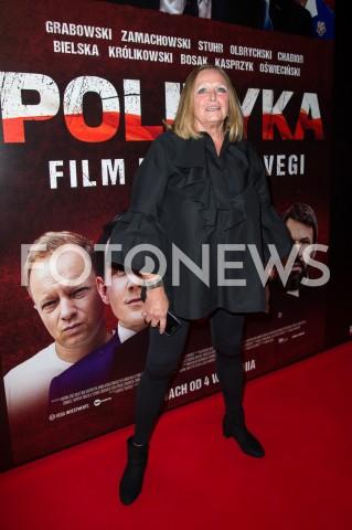 AGENCJA FOTONEWS - 03.09.2019 WARSZAWA POKAZ PREMIEROWY FILMU POLITYKA W WARSZAWIEN/Z IWONA BIELSKAFOT JACEK MYSZKOWSKI/FOTONEWS