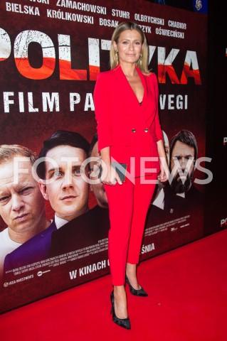 03.09.2019 WARSZAWA <br />POKAZ PREMIEROWY FILMU POLITYKA W WARSZAWIE<br />N/Z ANNA OBERC<br />