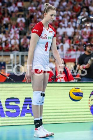 AGENCJA FOTONEWS - 04.09.2019 LODZ ( POLAND )SIATKOWKA KOBIET MISTRZOSTWA EUROPY KOBIET CEV EUROVOLLEY 2019 WOMEN EUROPEAN CHAMPIONSHIP1/4 FINALU MECZ POLSKA - NIEMCY ( Poland - Germany ) N/Z MAGDALENA STYSIAK SYLWETKA FOT ARTUR MARCINKOWSKI / FOTONEWS