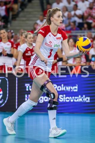 AGENCJA FOTONEWS - 04.09.2019 LODZ ( POLAND )SIATKOWKA KOBIET MISTRZOSTWA EUROPY KOBIET CEV EUROVOLLEY 2019 WOMEN EUROPEAN CHAMPIONSHIP1/4 FINALU MECZ POLSKA - NIEMCY ( Poland - Germany ) N/Z KLAUDIA ALAGIERSKA SYLWETKA FOT ARTUR MARCINKOWSKI / FOTONEWS