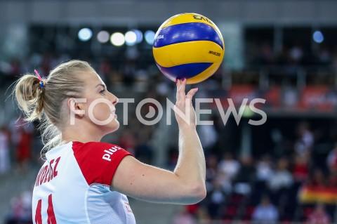 AGENCJA FOTONEWS - 04.09.2019 LODZ ( POLAND )SIATKOWKA KOBIET MISTRZOSTWA EUROPY KOBIET CEV EUROVOLLEY 2019 WOMEN EUROPEAN CHAMPIONSHIP1/4 FINALU MECZ POLSKA - NIEMCY ( Poland - Germany ) N/Z JOANNA WOLOSZ SYLWETKA FOT ARTUR MARCINKOWSKI / FOTONEWS