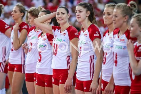 AGENCJA FOTONEWS - 04.09.2019 LODZ ( POLAND )SIATKOWKA KOBIET MISTRZOSTWA EUROPY KOBIET CEV EUROVOLLEY 2019 WOMEN EUROPEAN CHAMPIONSHIP1/4 FINALU MECZ POLSKA - NIEMCY ( Poland - Germany ) N/Z KATARZYNA ZAROSLINSKA - KROL MARTYNA LUKASIK NATALIA MEDRZYK JOANNA WOLOSZ FOT ARTUR MARCINKOWSKI / FOTONEWS