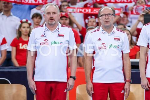 AGENCJA FOTONEWS - 04.09.2019 LODZ ( POLAND )SIATKOWKA KOBIET MISTRZOSTWA EUROPY KOBIET CEV EUROVOLLEY 2019 WOMEN EUROPEAN CHAMPIONSHIP1/4 FINALU MECZ POLSKA - NIEMCY ( Poland - Germany ) N/Z JACEK NAWROCKI - I TRENER ( HEAD COACH ) WALDEMAR KAWKA - II TRENER ( ASSISTANT COACH ) SYLWETKA FOT ARTUR MARCINKOWSKI / FOTONEWS