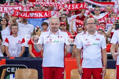 AGENCJA FOTONEWS - 04.09.2019 LODZ ( POLAND )SIATKOWKA KOBIET MISTRZOSTWA EUROPY KOBIET CEV EUROVOLLEY 2019 WOMEN EUROPEAN CHAMPIONSHIP1/4 FINALU MECZ POLSKA - NIEMCY ( Poland - Germany ) N/Z JACEK NAWROCKI - I TRENER ( HEAD COACH ) WALDEMAR KAWKA - II TRENER ( ASSISTANT COACH ) SYLWETKA KIBICEFOT ARTUR MARCINKOWSKI / FOTONEWS