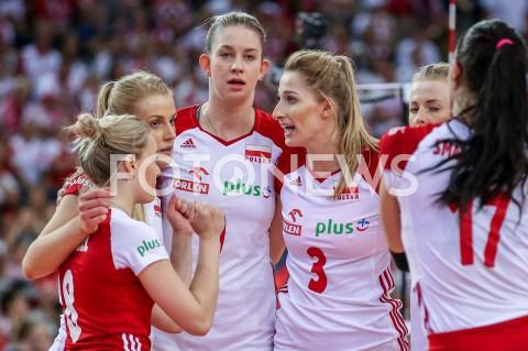 AGENCJA FOTONEWS - 04.09.2019 LODZ ( POLAND )SIATKOWKA KOBIET MISTRZOSTWA EUROPY KOBIET CEV EUROVOLLEY 2019 WOMEN EUROPEAN CHAMPIONSHIP1/4 FINALU MECZ POLSKA - NIEMCY ( Poland - Germany ) N/Z MAGDALENA STYSIAK KLAUDIA ALAGIERSKA NATALIA MEDRZYK MARIA STENZEL RADOSC EMOCJE FOT ARTUR MARCINKOWSKI / FOTONEWS