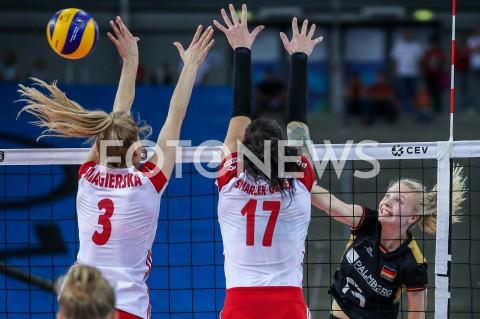 AGENCJA FOTONEWS - 04.09.2019 LODZ ( POLAND )SIATKOWKA KOBIET MISTRZOSTWA EUROPY KOBIET CEV EUROVOLLEY 2019 WOMEN EUROPEAN CHAMPIONSHIP1/4 FINALU MECZ POLSKA - NIEMCY ( Poland - Germany ) N/Z JENNIFER GEERTIES FOT ARTUR MARCINKOWSKI / FOTONEWS
