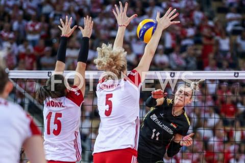 AGENCJA FOTONEWS - 04.09.2019 LODZ ( POLAND )SIATKOWKA KOBIET MISTRZOSTWA EUROPY KOBIET CEV EUROVOLLEY 2019 WOMEN EUROPEAN CHAMPIONSHIP1/4 FINALU MECZ POLSKA - NIEMCY ( Poland - Germany ) N/Z LOUISA LIPPMANN FOT ARTUR MARCINKOWSKI / FOTONEWS