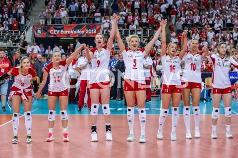 AGENCJA FOTONEWS - 04.09.2019 LODZ ( POLAND )SIATKOWKA KOBIET MISTRZOSTWA EUROPY KOBIET CEV EUROVOLLEY 2019 WOMEN EUROPEAN CHAMPIONSHIP1/4 FINALU MECZ POLSKA - NIEMCY ( Poland - Germany ) N/Z ZWYCIESTWO WYGRANA RADOSC AWANS DO POLFINALU EMOCJE MARTYNA GRAJBER JOANNA WOLOSZ MAGDALENA STYSIAK AGNIESZKA KAKOLEWSKA NATALIA MEDRZYK ZUZANNA EFIMIENKO - MLOTKOWSKA MARTYNA LUKASIK FOT ARTUR MARCINKOWSKI / FOTONEWS