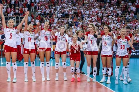 AGENCJA FOTONEWS - 04.09.2019 LODZ ( POLAND )SIATKOWKA KOBIET MISTRZOSTWA EUROPY KOBIET CEV EUROVOLLEY 2019 WOMEN EUROPEAN CHAMPIONSHIP1/4 FINALU MECZ POLSKA - NIEMCY ( Poland - Germany ) N/Z ZWYCIESTWO WYGRANA RADOSC AWANS DO POLFINALU EMOCJE AGNIESZKA KAKOLEWSKA NATALIA MEDRZYK ZUZANNA EFIMIENKO - MLOTKOWSKA MARTYNA LUKASIK MARIA STENZEL KLAUDIA ALAGIERSKA ALEKSANDRA WOJCIK MARLENA KOWALEWSKA PLESNIEROWICZ FOT ARTUR MARCINKOWSKI / FOTONEWS