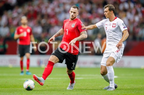 AGENCJA FOTONEWS - 09.09.2019 - WARSZAWAPILKA NOZNA - KWALIFIKACJE UEFA EURO 2020FOOTBALL UEFA EURO 2020 QUALIFIERSMECZ POLSKA (POLAND) - AUSTRIA (AUSTRIA)N/Z KRYSTIAN BIELIK ALEXANDER SCHLAGERFOT DAREK NOWAK / FOTONEWS