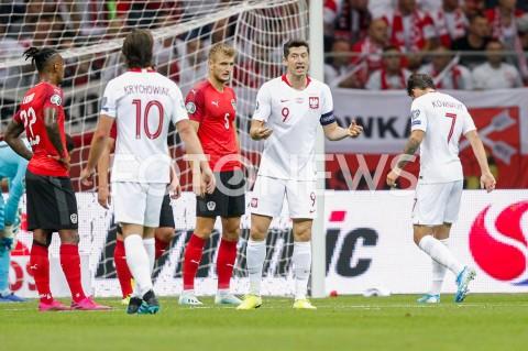 AGENCJA FOTONEWS - 09.09.2019 - WARSZAWAPILKA NOZNA - KWALIFIKACJE UEFA EURO 2020FOOTBALL UEFA EURO 2020 QUALIFIERSMECZ POLSKA (POLAND) - AUSTRIA (AUSTRIA)N/Z ROBERT LEWANDOWSKI  FOT DAREK NOWAK / FOTONEWS