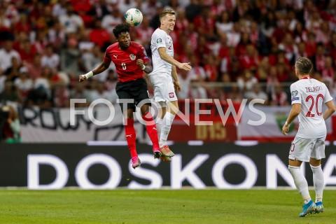 AGENCJA FOTONEWS - 09.09.2019 - WARSZAWAPILKA NOZNA - KWALIFIKACJE UEFA EURO 2020FOOTBALL UEFA EURO 2020 QUALIFIERSMECZ POLSKA (POLAND) - AUSTRIA (AUSTRIA)N/Z TOMASZ KEDZIORA DAVID ALABAFOT DAREK NOWAK / FOTONEWS