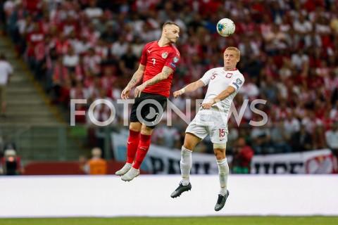 AGENCJA FOTONEWS - 09.09.2019 - WARSZAWAPILKA NOZNA - KWALIFIKACJE UEFA EURO 2020FOOTBALL UEFA EURO 2020 QUALIFIERSMECZ POLSKA (POLAND) - AUSTRIA (AUSTRIA)N/Z KAMIL GLIK MARKO ARNAUTOVIC FOT DAREK NOWAK / FOTONEWS