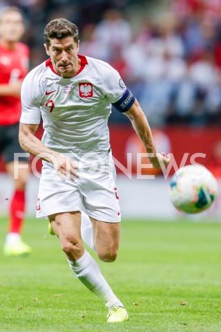 AGENCJA FOTONEWS - 09.09.2019 - WARSZAWAPILKA NOZNA - KWALIFIKACJE UEFA EURO 2020FOOTBALL UEFA EURO 2020 QUALIFIERSMECZ POLSKA (POLAND) - AUSTRIA (AUSTRIA)N/Z ROBERT LEWANDOWSKI SYLWETKAFOT DAREK NOWAK / FOTONEWS