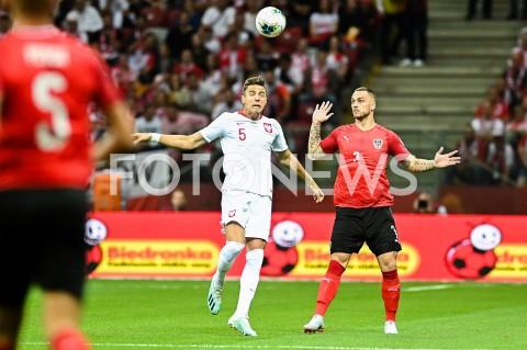 AGENCJA FOTONEWS - 09.09.2019 - WARSZAWAPILKA NOZNA - KWALIFIKACJE UEFA EURO 2020FOOTBALL UEFA EURO 2020 QUALIFIERSMECZ POLSKA (POLAND) - AUSTRIA (AUSTRIA)N/Z JAN BEDNAREK MARKO ARNAUTOVICFOT MATEUSZ SLODKOWSKI / FOTONEWS