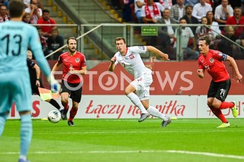 AGENCJA FOTONEWS - 09.09.2019 - WARSZAWAPILKA NOZNA - KWALIFIKACJE UEFA EURO 2020FOOTBALL UEFA EURO 2020 QUALIFIERSMECZ POLSKA (POLAND) - AUSTRIA (AUSTRIA)N/Z ANDREAS ULMER KRYSTIAN BIELIK JULIAN BAUMGARTLINGERFOT MATEUSZ SLODKOWSKI / FOTONEWS