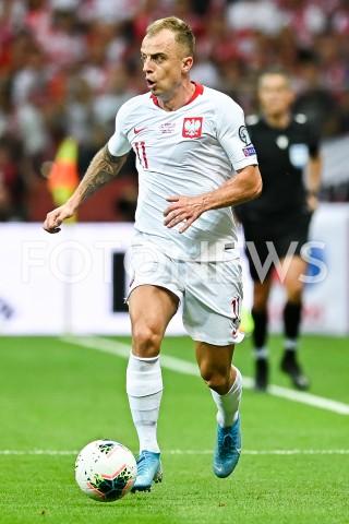 AGENCJA FOTONEWS - 09.09.2019 - WARSZAWAPILKA NOZNA - KWALIFIKACJE UEFA EURO 2020FOOTBALL UEFA EURO 2020 QUALIFIERSMECZ POLSKA (POLAND) - AUSTRIA (AUSTRIA)N/Z KAMIL GROSICKI SYLWETKAFOT MATEUSZ SLODKOWSKI / FOTONEWS