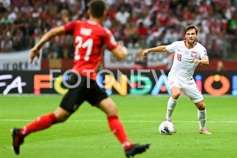 AGENCJA FOTONEWS - 09.09.2019 - WARSZAWAPILKA NOZNA - KWALIFIKACJE UEFA EURO 2020FOOTBALL UEFA EURO 2020 QUALIFIERSMECZ POLSKA (POLAND) - AUSTRIA (AUSTRIA)N/Z BARTOSZ BERESZYNSKI SYLWETKAFOT MATEUSZ SLODKOWSKI / FOTONEWS