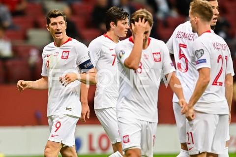 AGENCJA FOTONEWS - 09.09.2019 - WARSZAWAPILKA NOZNA - KWALIFIKACJE UEFA EURO 2020FOOTBALL UEFA EURO 2020 QUALIFIERSMECZ POLSKA (POLAND) - AUSTRIA (AUSTRIA)N/Z ROBERT LEWANDOWSKI EMOCJE REPREZENTACJA DRUZYNAFOT MATEUSZ SLODKOWSKI / FOTONEWS
