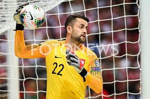 AGENCJA FOTONEWS - 09.09.2019 - WARSZAWAPILKA NOZNA - KWALIFIKACJE UEFA EURO 2020FOOTBALL UEFA EURO 2020 QUALIFIERSMECZ POLSKA (POLAND) - AUSTRIA (AUSTRIA)N/Z LUKASZ FABIANSKI SYLWETKAFOT MATEUSZ SLODKOWSKI / FOTONEWS