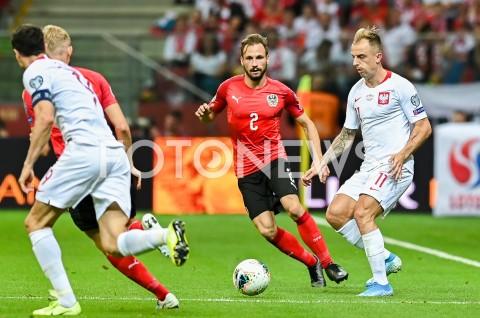 AGENCJA FOTONEWS - 09.09.2019 - WARSZAWAPILKA NOZNA - KWALIFIKACJE UEFA EURO 2020FOOTBALL UEFA EURO 2020 QUALIFIERSMECZ POLSKA (POLAND) - AUSTRIA (AUSTRIA)N/Z ANDREAS ULMER KAMIL GROSICKIFOT MATEUSZ SLODKOWSKI / FOTONEWS