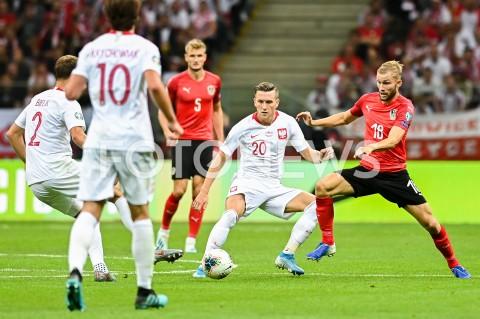 AGENCJA FOTONEWS - 09.09.2019 - WARSZAWAPILKA NOZNA - KWALIFIKACJE UEFA EURO 2020FOOTBALL UEFA EURO 2020 QUALIFIERSMECZ POLSKA (POLAND) - AUSTRIA (AUSTRIA)N/Z PIOTR ZIELINSKI KONRAD LAIMERFOT MATEUSZ SLODKOWSKI / FOTONEWS