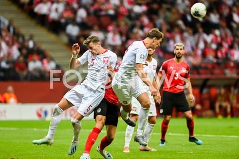 AGENCJA FOTONEWS - 09.09.2019 - WARSZAWAPILKA NOZNA - KWALIFIKACJE UEFA EURO 2020FOOTBALL UEFA EURO 2020 QUALIFIERSMECZ POLSKA (POLAND) - AUSTRIA (AUSTRIA)N/Z JAN BEDNAREK KRYSTIAN BIELIKFOT MATEUSZ SLODKOWSKI / FOTONEWS