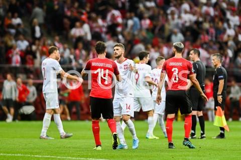 AGENCJA FOTONEWS - 09.09.2019 - WARSZAWAPILKA NOZNA - KWALIFIKACJE UEFA EURO 2020FOOTBALL UEFA EURO 2020 QUALIFIERSMECZ POLSKA (POLAND) - AUSTRIA (AUSTRIA)N/Z JULIAN BAUMGARTLINGER MATEUSZ KLICHFOT MATEUSZ SLODKOWSKI / FOTONEWS