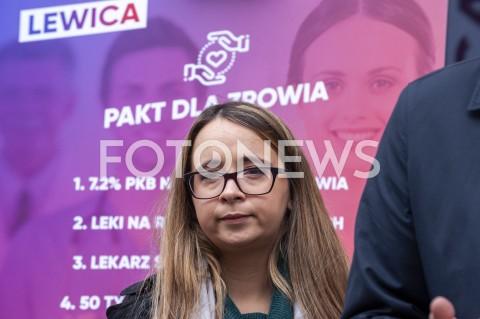 AGENCJA FOTONEWS - 01.10.2019 WARSZAWAKONFERENCJA LEWICY ZDROWIEN/Z MARCELINA ZAWISZAFOT GRZEGORZ KRZYZEWSKI / FOTONEWS