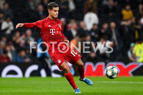 AGENCJA FOTONEWS - 01.10.2019 - LONDYNPILKA NOZNA - MECZ FAZY GRUPOWEJ LIGI MISTRZOWTOTTENHAM HOTSPUR - BAYERN MONACHIUMFootball - Champions League Group B match(Tottenham Hotspur - Bayern Munich)N/Z PHILIPPE COUTINHO SYLWETKA ROZGRZEWKAFOT MATEUSZ SLODKOWSKI / FOTONEWS