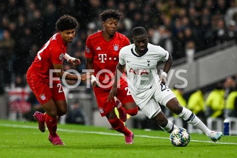 AGENCJA FOTONEWS - 01.10.2019 - LONDYNPILKA NOZNA - MECZ FAZY GRUPOWEJ LIGI MISTRZOWTOTTENHAM HOTSPUR - BAYERN MONACHIUMFootball - Champions League Group B match(Tottenham Hotspur - Bayern Munich)N/Z SERGE GNABRY DAVID ALABA TANGUY NDOMBELEFOT MATEUSZ SLODKOWSKI / FOTONEWS