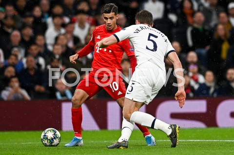 AGENCJA FOTONEWS - 01.10.2019 - LONDYNPILKA NOZNA - MECZ FAZY GRUPOWEJ LIGI MISTRZOWTOTTENHAM HOTSPUR - BAYERN MONACHIUMFootball - Champions League Group B match(Tottenham Hotspur - Bayern Munich)N/Z PHILIPPE COUTINHOFOT MATEUSZ SLODKOWSKI / FOTONEWS