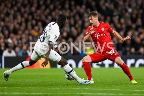 AGENCJA FOTONEWS - 01.10.2019 - LONDYNPILKA NOZNA - MECZ FAZY GRUPOWEJ LIGI MISTRZOWTOTTENHAM HOTSPUR - BAYERN MONACHIUMFootball - Champions League Group B match(Tottenham Hotspur - Bayern Munich)N/Z TANGUY NDOMBELE JOSHUA KIMMICH BRAMKA NA 1:1FOT MATEUSZ SLODKOWSKI / FOTONEWS