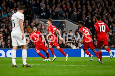 AGENCJA FOTONEWS - 01.10.2019 - LONDYNPILKA NOZNA - MECZ FAZY GRUPOWEJ LIGI MISTRZOWTOTTENHAM HOTSPUR - BAYERN MONACHIUMFootball - Champions League Group B match(Tottenham Hotspur - Bayern Munich)N/Z JOSHUA KIMMICH RADOSC BRAMKA GOL NA 1:1FOT MATEUSZ SLODKOWSKI / FOTONEWS