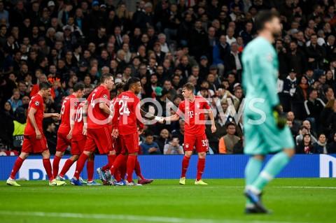 AGENCJA FOTONEWS - 01.10.2019 - LONDYNPILKA NOZNA - MECZ FAZY GRUPOWEJ LIGI MISTRZOWTOTTENHAM HOTSPUR - BAYERN MONACHIUMFootball - Champions League Group B match(Tottenham Hotspur - Bayern Munich)N/Z JOSHUA KIMMICH RADOSC BRAMKA GOL NA 1:1 ROBERT LEWANDOWSKIFOT MATEUSZ SLODKOWSKI / FOTONEWS