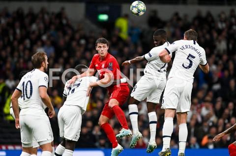 AGENCJA FOTONEWS - 01.10.2019 - LONDYNPILKA NOZNA - MECZ FAZY GRUPOWEJ LIGI MISTRZOWTOTTENHAM HOTSPUR - BAYERN MONACHIUMFootball - Champions League Group B match(Tottenham Hotspur - Bayern Munich)N/Z BENJAMIN PAVARD TANGUY NDOMBELEFOT MATEUSZ SLODKOWSKI / FOTONEWS