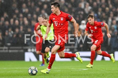 AGENCJA FOTONEWS - 01.10.2019 - LONDYNPILKA NOZNA - MECZ FAZY GRUPOWEJ LIGI MISTRZOWTOTTENHAM HOTSPUR - BAYERN MONACHIUMFootball - Champions League Group B match(Tottenham Hotspur - Bayern Munich)N/Z ROBERT LEWANDOWSKI SYLWETKAFOT MATEUSZ SLODKOWSKI / FOTONEWS