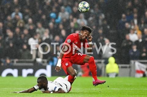 AGENCJA FOTONEWS - 01.10.2019 - LONDYNPILKA NOZNA - MECZ FAZY GRUPOWEJ LIGI MISTRZOWTOTTENHAM HOTSPUR - BAYERN MONACHIUMFootball - Champions League Group B match(Tottenham Hotspur - Bayern Munich)N/Z TANGUY NDOMBELE DAVID ALABAFOT MATEUSZ SLODKOWSKI / FOTONEWS