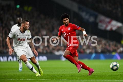 AGENCJA FOTONEWS - 01.10.2019 - LONDYNPILKA NOZNA - MECZ FAZY GRUPOWEJ LIGI MISTRZOWTOTTENHAM HOTSPUR - BAYERN MONACHIUMFootball - Champions League Group B match(Tottenham Hotspur - Bayern Munich)N/Z SERGE GNABRYFOT MATEUSZ SLODKOWSKI / FOTONEWS