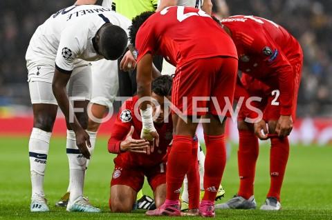 AGENCJA FOTONEWS - 01.10.2019 - LONDYNPILKA NOZNA - MECZ FAZY GRUPOWEJ LIGI MISTRZOWTOTTENHAM HOTSPUR - BAYERN MONACHIUMFootball - Champions League Group B match(Tottenham Hotspur - Bayern Munich)N/Z TANGUY NDOMBELE FAUL PHILIPPE COUTINHOFOT MATEUSZ SLODKOWSKI / FOTONEWS