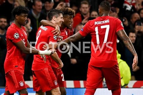 AGENCJA FOTONEWS - 01.10.2019 - LONDYNPILKA NOZNA - MECZ FAZY GRUPOWEJ LIGI MISTRZOWTOTTENHAM HOTSPUR - BAYERN MONACHIUMFootball - Champions League Group B match(Tottenham Hotspur - Bayern Munich)N/Z ROBERT LEWANDOWSKI RADOSC BRAMKA GOL NA 1:2FOT MATEUSZ SLODKOWSKI / FOTONEWS