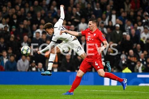 AGENCJA FOTONEWS - 01.10.2019 - LONDYNPILKA NOZNA - MECZ FAZY GRUPOWEJ LIGI MISTRZOWTOTTENHAM HOTSPUR - BAYERN MONACHIUMFootball - Champions League Group B match(Tottenham Hotspur - Bayern Munich)N/Z DELE ALLI NIKLAS SULEFOT MATEUSZ SLODKOWSKI / FOTONEWS