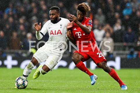 AGENCJA FOTONEWS - 01.10.2019 - LONDYNPILKA NOZNA - MECZ FAZY GRUPOWEJ LIGI MISTRZOWTOTTENHAM HOTSPUR - BAYERN MONACHIUMFootball - Champions League Group B match(Tottenham Hotspur - Bayern Munich)N/Z DANNY ROSE KINGSLEY COMANFOT MATEUSZ SLODKOWSKI / FOTONEWS