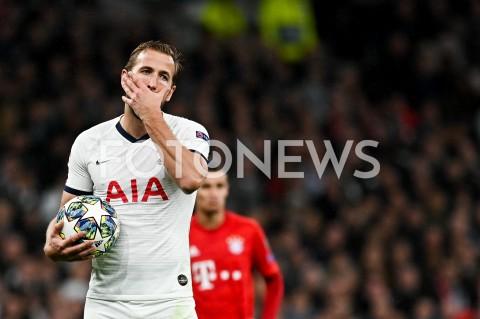 AGENCJA FOTONEWS - 01.10.2019 - LONDYNPILKA NOZNA - MECZ FAZY GRUPOWEJ LIGI MISTRZOWTOTTENHAM HOTSPUR - BAYERN MONACHIUMFootball - Champions League Group B match(Tottenham Hotspur - Bayern Munich)N/Z HARRY KANE SYLWETKA EMOCJEFOT MATEUSZ SLODKOWSKI / FOTONEWS