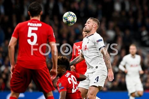 AGENCJA FOTONEWS - 01.10.2019 - LONDYNPILKA NOZNA - MECZ FAZY GRUPOWEJ LIGI MISTRZOWTOTTENHAM HOTSPUR - BAYERN MONACHIUMFootball - Champions League Group B match(Tottenham Hotspur - Bayern Munich)N/Z TOBY ALDERWEIRELDFOT MATEUSZ SLODKOWSKI / FOTONEWS
