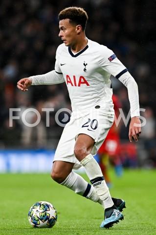 AGENCJA FOTONEWS - 01.10.2019 - LONDYNPILKA NOZNA - MECZ FAZY GRUPOWEJ LIGI MISTRZOWTOTTENHAM HOTSPUR - BAYERN MONACHIUMFootball - Champions League Group B match(Tottenham Hotspur - Bayern Munich)N/Z DELE ALLI SYLWETKAFOT MATEUSZ SLODKOWSKI / FOTONEWS