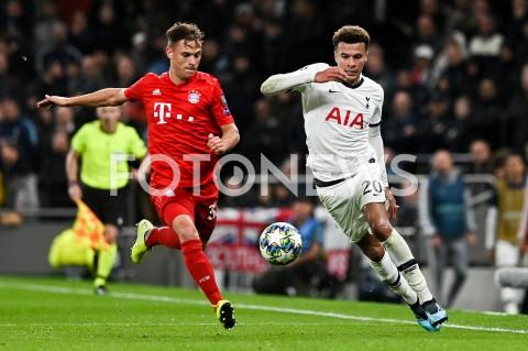 AGENCJA FOTONEWS - 01.10.2019 - LONDYNPILKA NOZNA - MECZ FAZY GRUPOWEJ LIGI MISTRZOWTOTTENHAM HOTSPUR - BAYERN MONACHIUMFootball - Champions League Group B match(Tottenham Hotspur - Bayern Munich)N/Z JOSHUA KIMMICH DELE ALLIFOT MATEUSZ SLODKOWSKI / FOTONEWS