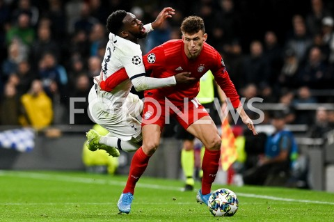 AGENCJA FOTONEWS - 01.10.2019 - LONDYNPILKA NOZNA - MECZ FAZY GRUPOWEJ LIGI MISTRZOWTOTTENHAM HOTSPUR - BAYERN MONACHIUMFootball - Champions League Group B match(Tottenham Hotspur - Bayern Munich)N/Z DANNY ROSE IVAN PERISICFOT MATEUSZ SLODKOWSKI / FOTONEWS