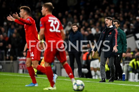 AGENCJA FOTONEWS - 01.10.2019 - LONDYNPILKA NOZNA - MECZ FAZY GRUPOWEJ LIGI MISTRZOWTOTTENHAM HOTSPUR - BAYERN MONACHIUMFootball - Champions League Group B match(Tottenham Hotspur - Bayern Munich)N/Z NIKO KOVAC EMOCJE SYLWETKAFOT MATEUSZ SLODKOWSKI / FOTONEWS